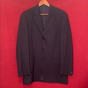 Hugo Boss Einstein Sigma Black Silk Wool Suit 40L